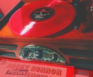 aesthetic, red, and vintage image