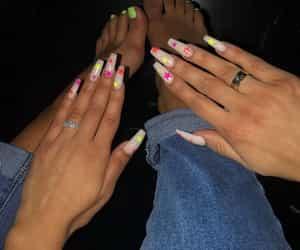 blue, nail, and unhas image