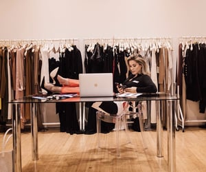 clothing, business woman, and company image