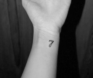 7, blacknwhite, and arm image