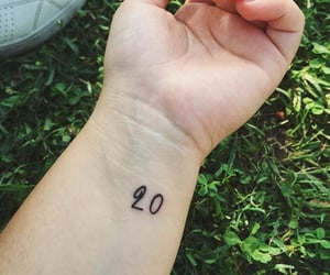 20, Tattoos, and wrist image