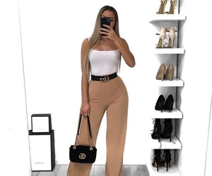 bag, beige, and white image