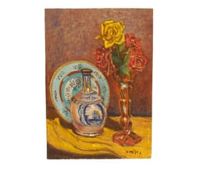 etsy, romantic art, and floral painting image