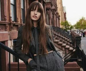 bangs, city, and hair image