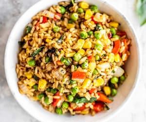 recipe, vegan, and fried rice image