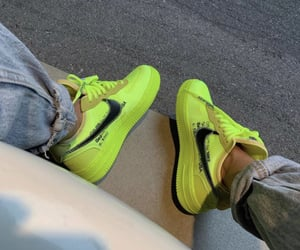 neon, nike, and shoes image