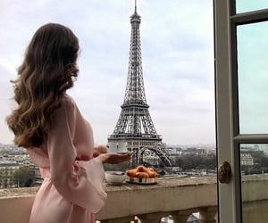 eiffel tower, food, and places image