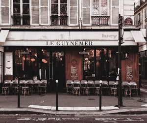 city, cafe, and architecture image