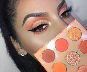 orange, makeup, and eyeshadow image