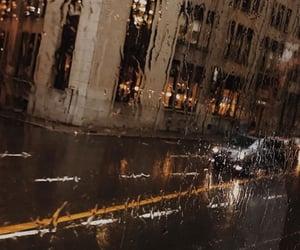 rain, autumn, and car image