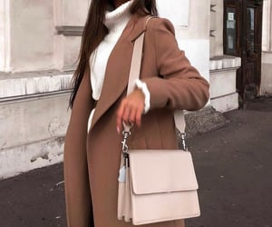 autumn, outfit, and beige image