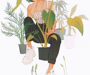 drawing, plants, and art image