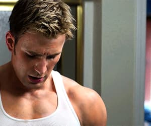 chris evans, steve rogers, and gif image