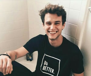 brandon flynn, boy, and smile image