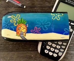 calculator, painting, and spongebob image