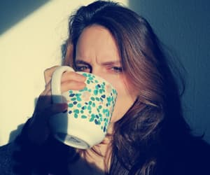 coffee, dark hair, and coffeelover image