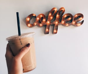 coffee, drink, and light image