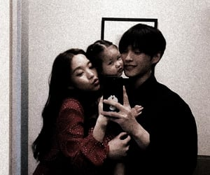 family, korean, and filtered image