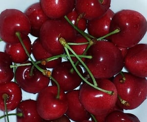 red, cherry, and food image