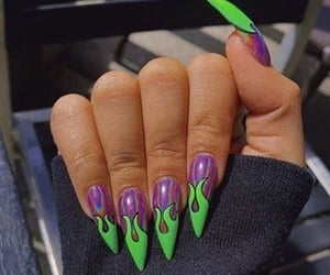 nails, green, and fire image