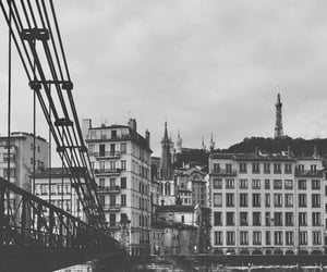 aesthetic, black and white, and bridge image