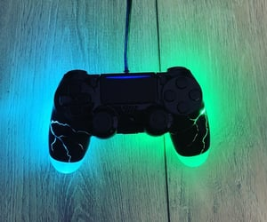 black, controller, and blue image