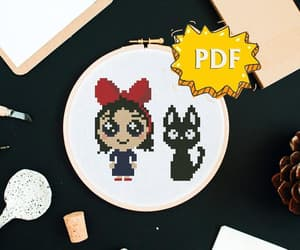 big eyes, etsy, and kiki the witch image