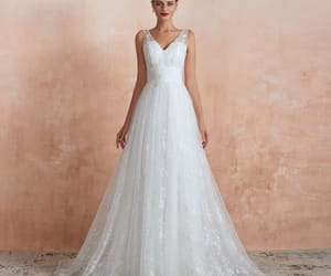 bridal, bridal gown, and garden wedding dress image