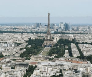 eiffel tower, europe, and fall image