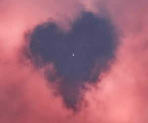 wallpaper, heart, and sky image
