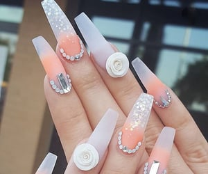 long nails, nail art, and nails image