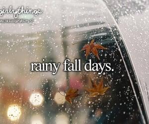 fall, autumn, and rain image