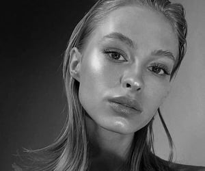b&w, beauty, and face image