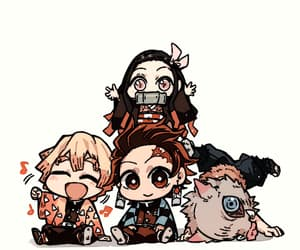 anime, chibi, and kimetsu no yaiba image