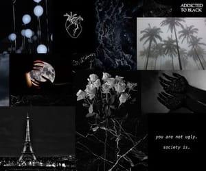 Collage, dark, and paris image