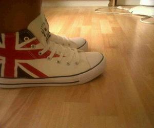 converse, uk flag, and england image