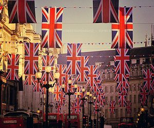 london, flag, and england image