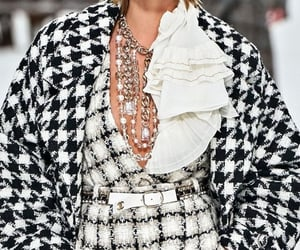 chanel, coat, and jewelry image