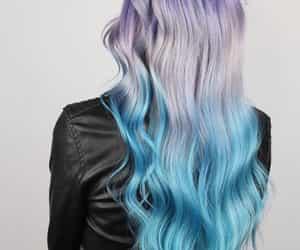 purple haircolor, 🔮, and purple-blue hair color image