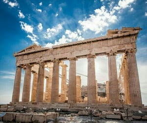 travel, Greece, and parthenon image