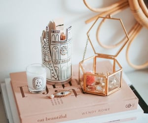 beauty, candle, and bedroom image