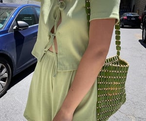 girl and green image