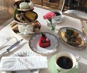 food, coffee, and dessert image