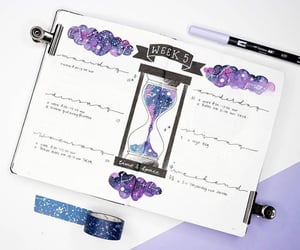 galaxy, inspiration, and journal image