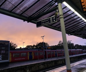 station, sunset, and tumblr image
