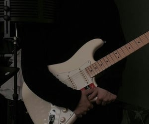 guitar, aesthetic, and black image