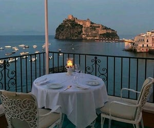 travel, sea, and dinner image