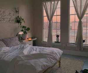 bedroom, garden, and decor image