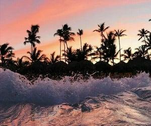 beach, ocean, and wallpaper image