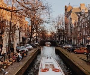 amsterdam, boat, and bridge image